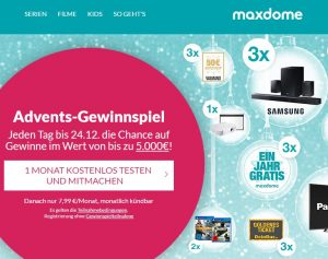 Streaming Dienste Vergleich: Maxdome